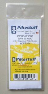 Solid-Entry-Door-HO-1-87-SCALE-LAYOUT-DIORAMA-PIKESTUFF-RIX-1102