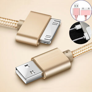 Data-Sync-Charger-Cable-Cord-Metal-USB-For-Apple-iPhone-4-4S-iPad-2-3-Nano
