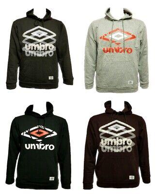 Men`s New UMBRO Hoodie Sizes S-M-L-XL in 7 Colours Hooded Sweatshirt
