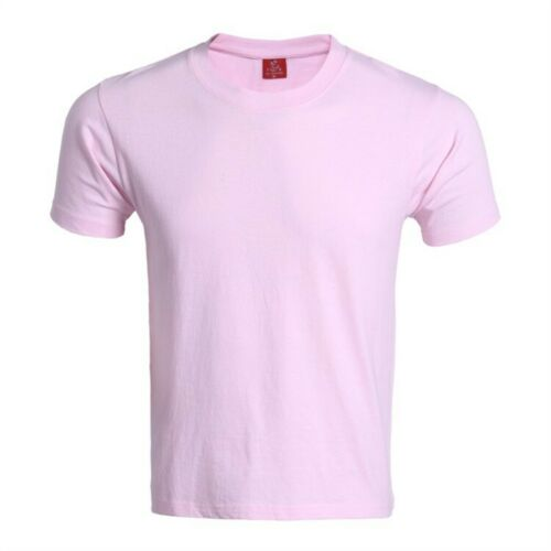 Men //Women Summer Plain Short Sleeve T-Shirt Roundneck Tee Tops Solid Undershirt