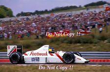Michele Alboreto movimento dei piedi FRECCE A11B ungherese GRAND PRIX 1990 Fotografia