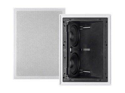 2-Way 100W 5.25-inch In-Wall In-Ceiling Dual Audio Speaker //w Adjustable Angle