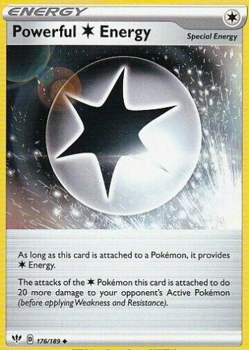 176//189 Reverse Holo Foil DARKNESS ABLAZE pokemon Powerful Energy