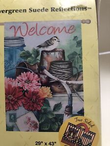 Evergreen Welcome The Old Garden Shed Floral Double Sided Garden Flag 29 X 43 Ebay