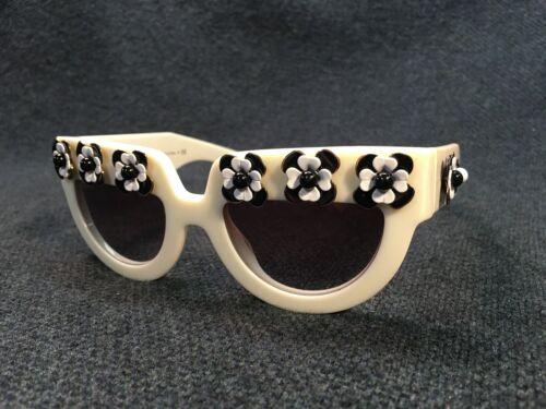 Prada Poeme Flower Sunglasses - Chunky White Frame