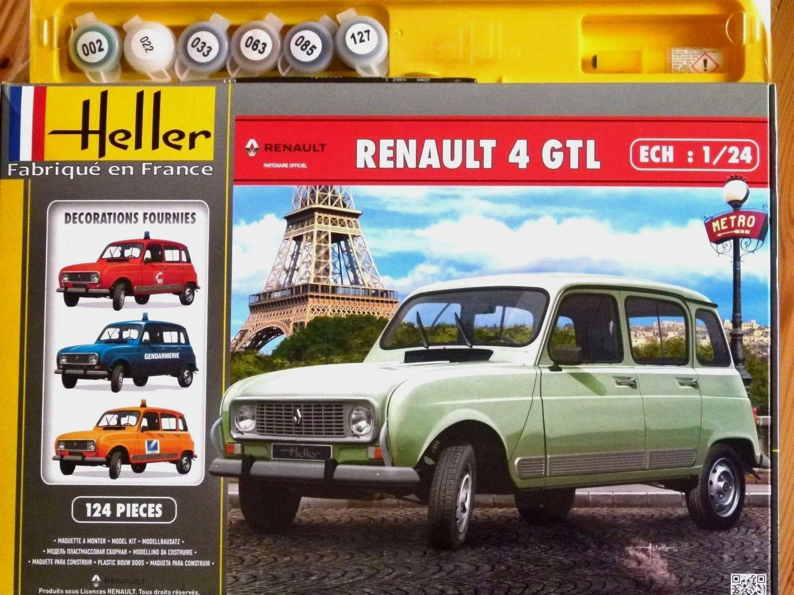 Heller 1 24 Renault 4 GTL Car Gift Set Model Kit