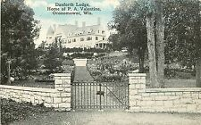 Wisconsin, WI, Oconomowoc, Danforth Lodge, Home of P A Valentine 1910's Postcard