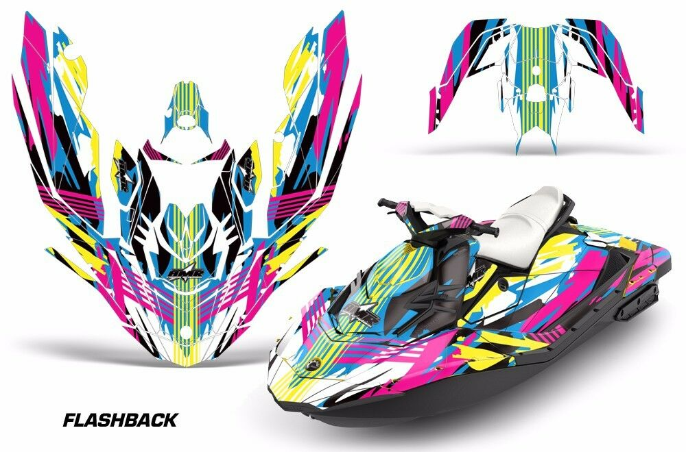 Jet Ski Grafik Kit Aufkleber für Sea-Doo Bombardier Spark 3 Up 15-18 Flashbk