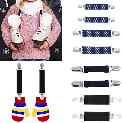 2pcs Kids Adult Mitten Elastic Band Metal Glove Stainless Clips Closures Grips