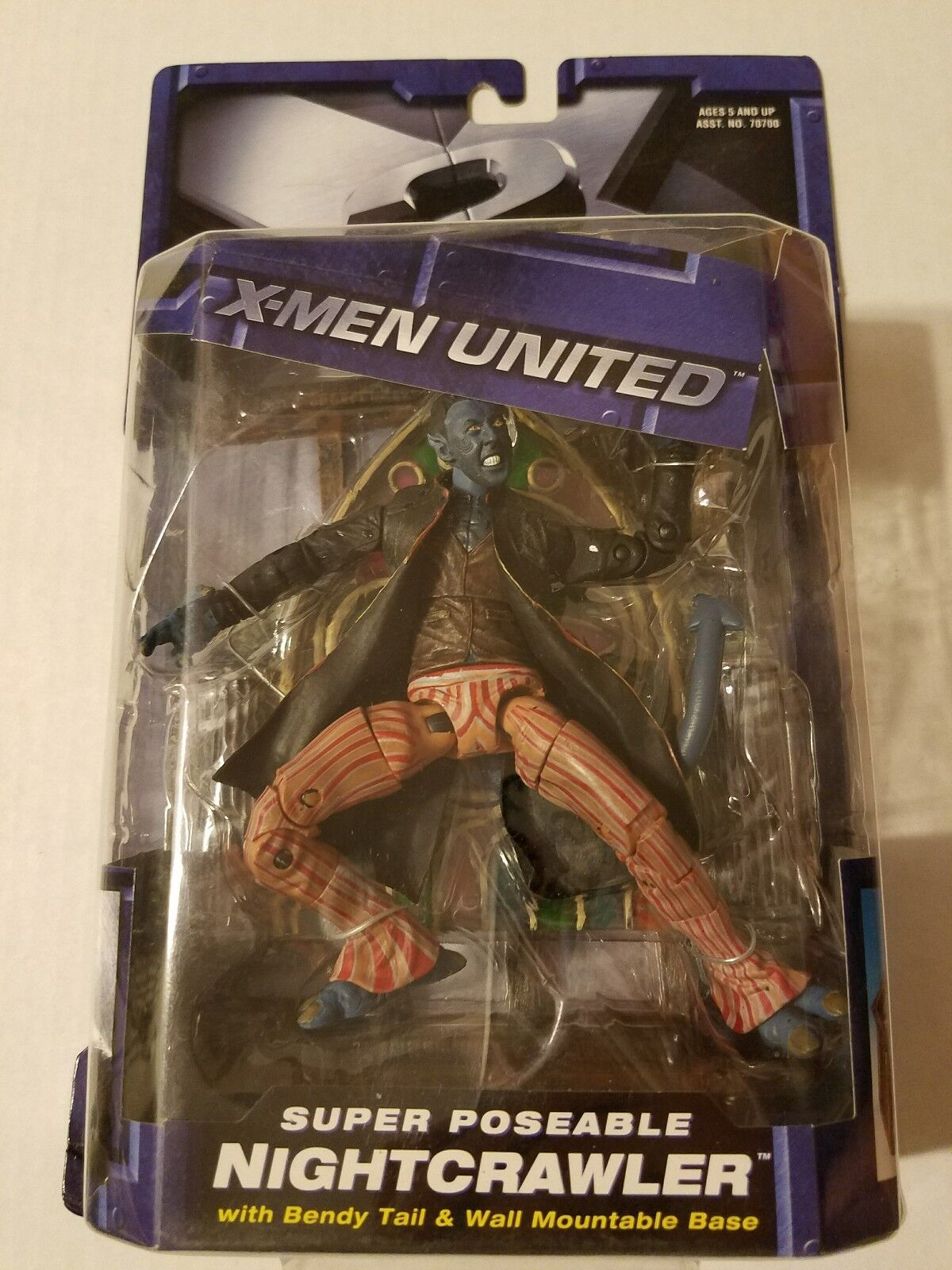 X-Men United X2 Super Poseable Nightcrawler Action Figure with Bendy Tail