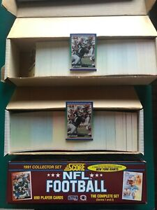 (3) NFL Football Complete Sets Lot 1990 & 1991 Score Bo Jackson Barry Sanders