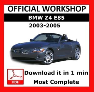 bmw z4 e85 workshop manual
