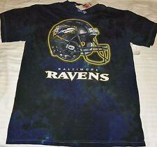 """NEW"" Baltimore Ravens ~ HELMET Logo Tye Dye Dyed SHIRT ~ NFL Adult Sz L Large"