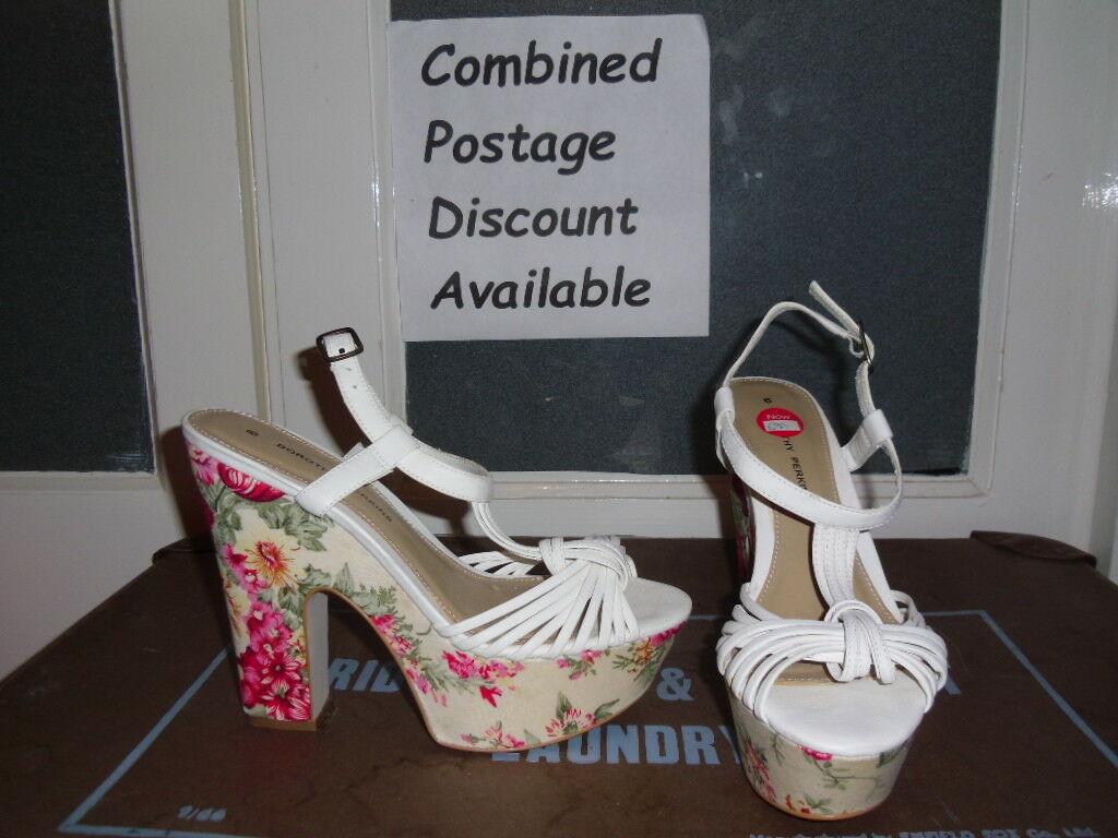 *NEW* Size DOROTHY PERKINS White Flower High Heel Shoes Size *NEW* 6 Smart Casual Wedding 68f27a