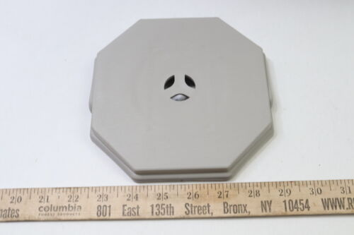 Mid American 030504084 Octagon Mount Vinyl Siding Electrical Mount Gray