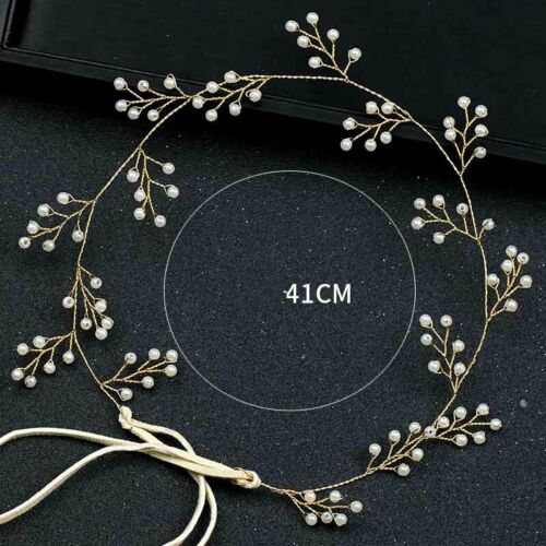 Pearls Bridal Wedding Hair Accessorie Brides Tiaras Headbands Headwear headdress