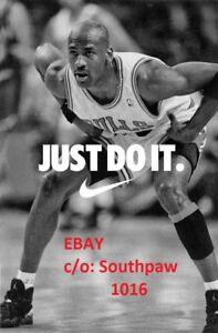 Nike Basketball Michael Jordan Just Do It Classic Print Advertisement Ebay