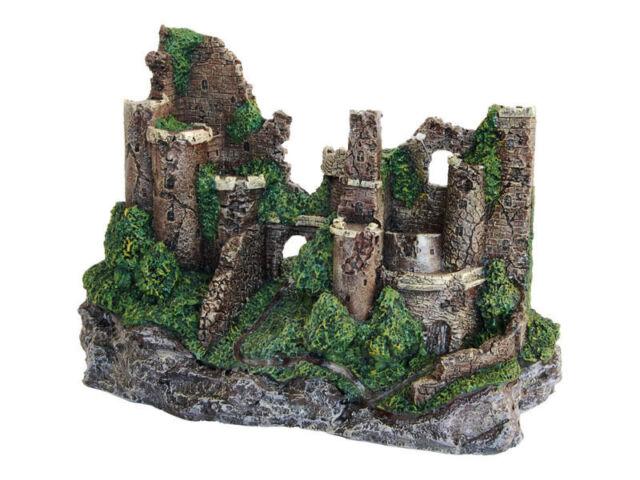 Large Castle Ruin Enchanted or Castle & Waterfall Aquarium Ornament Decoration