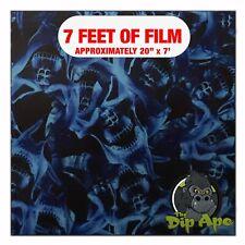 Hydrographic Film Blue Flaming Skulls Hydro Dipping 7 X 20 Hydro Dip
