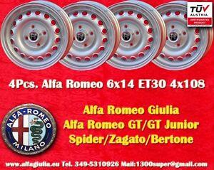 4 cerchi alfa romeo 6x14 et30 giulia gt gta wheels felgen. Black Bedroom Furniture Sets. Home Design Ideas