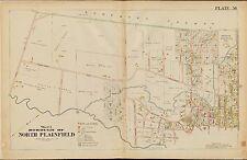 1906 NORTH PLAINFIELD UNION, NEW JERSEY BROOKSIDE SANITARIUM COPY PLAT ATLAS MAP