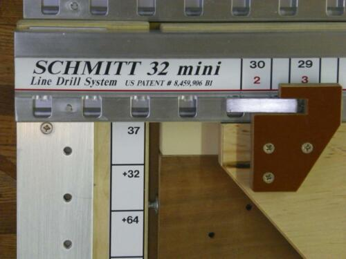 Schmitt32MINI 32mm cabinet Hardware Line Drilling System    ROUTER NOT INCLUDED