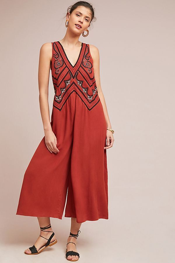 New Anthropologie Desert Embroidered Jumpsuit by Maeve. size 6