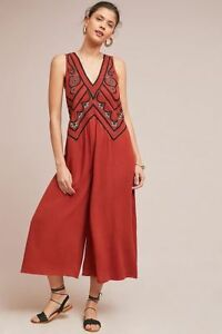 281afaf3d73 Image is loading New-Anthropologie-Desert-Embroidered-Jumpsuit -by-Maeve-size-