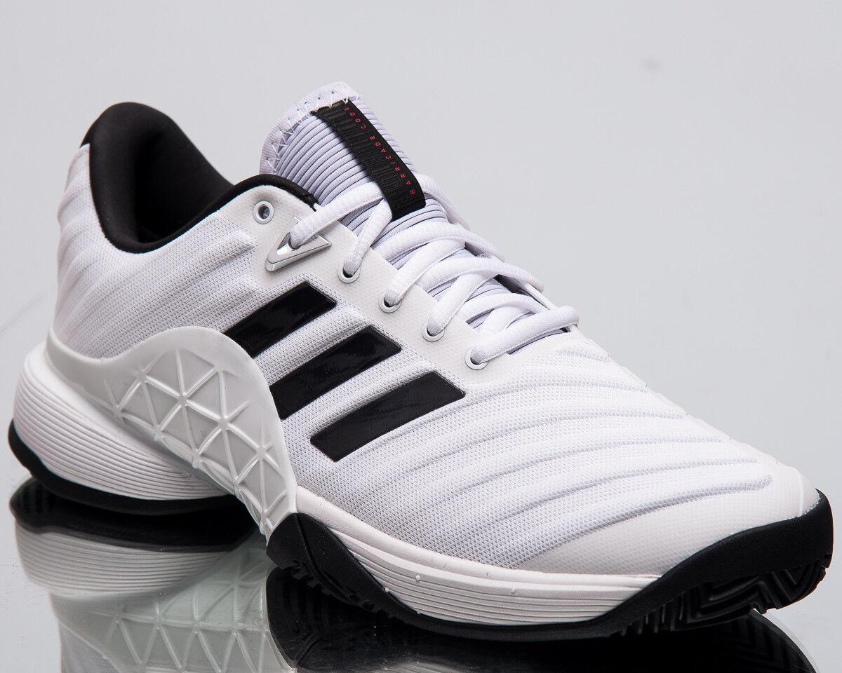 Adidas Barrikade 2018 Herren Neu Weiß Schwarz Silber Tennisschuhe CM7819