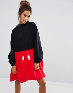 d5ac9700f7 Image is loading Lazy-Oaf-Disney-Mickey-Mouse-Sweater-Dress-size-