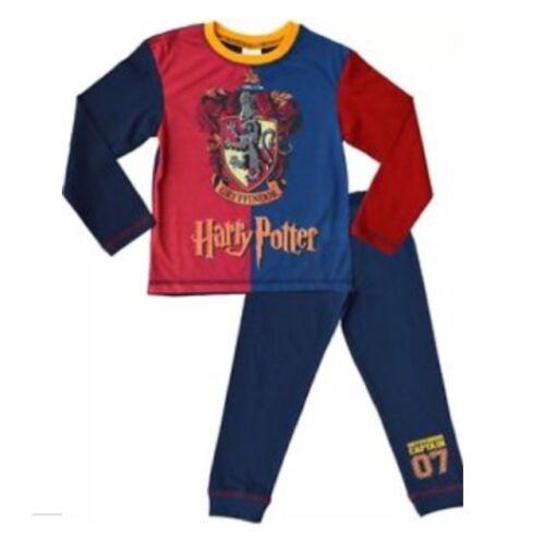 Anziani Ragazzi Ragazze Bambini Ufficiale Harry Potter Hogwarts Grifondoro Pigiama Set 2pc