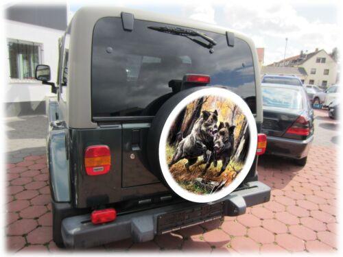 Cerdo salvaje caza reserveradabdeckung neumáticos cover referencia Honda Suzuki Vitara 68x21cm