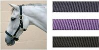 Hy Classic Head Collar Adjustable With Brass Fittings For Horses Various Colours