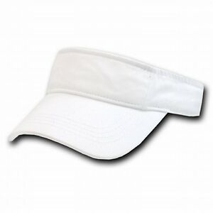 Details about White Polo Style Washed Cotton Golf Tennis Adjustable Sun Visor  Visors Hat Hats f9374c772f2