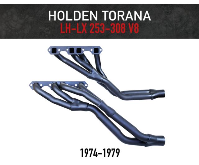 Headers / Extractors for Holden Torana LH-LX (1974-1979) 253-308ci V8