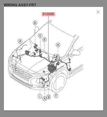Hyundai Santa Fe Engine Bay Wiring Harness With Fuse Block Ebay