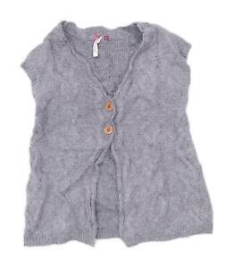 White-Stuff-Womens-Size-10-Wool-Blend-Grey-Cardigan-Regular