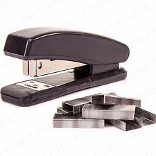 5 x BLACK STAPLER 2500 STAPLES SET School Office Desk Handy Stationery Kit