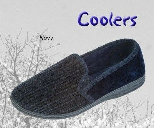 Coolers Mens Slippers FREE POST  Navy Slippers  Indoor Shoes
