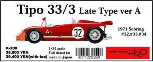 Mfh Modelo Factory Hiro 1 24 Tipo33 3 Late Tipo Ver un Completo Detail Kit