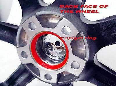 Range Rover BMW para caber VW Transporter T5 T6 T28 T32 72.6-65.1 Espita Anillos