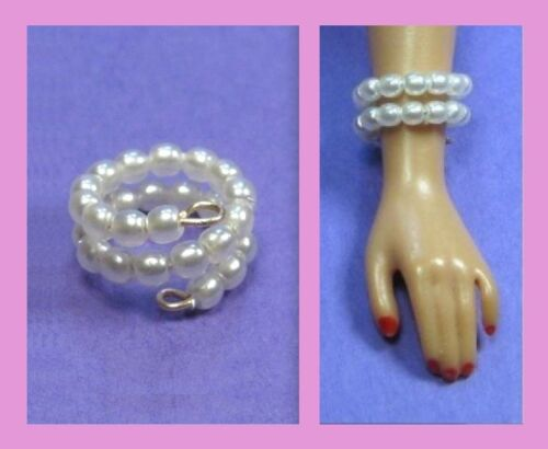 Dreamz WHITE PEARL NECKLACE Enchanted Evening SET Vintage Repro for Barbie Doll