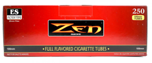 ZEN-Red-Full-Flavor-100MM-Size-2-Boxes-250-Tubes-Box-RYO-Tobacco-Cigarette
