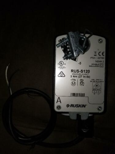 Ruskin RUS-S120 actuator M9203-BUA-RK7 27 in-lb