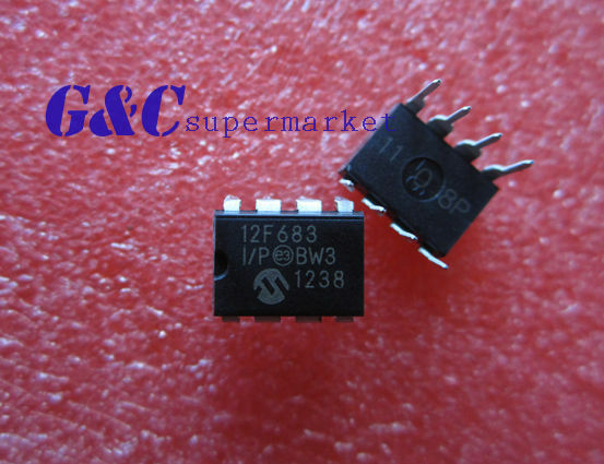 10PCS IC PIC12F683-I/P PIC12F683 DIP8 MICROCHIP IC MCU FLASH 2KX14 NEW