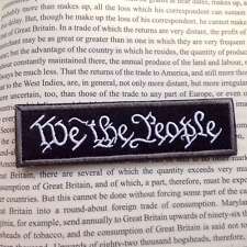 WE THE PEOPLE USA ARMY U.S. ISAF TACTICAL MORALE BADGE SWAT HOOK PATCH