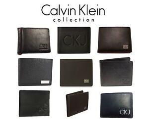 e09d041932ea38 Das Bild wird geladen CALVIN-KLEIN-Herren-Leder-Geldboerse-Portemonnaie- Brieftasche-Geldbeutel