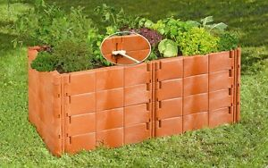 Juwel Hochbeet Profiline Terracotta Garten Bausteine 130x121cm