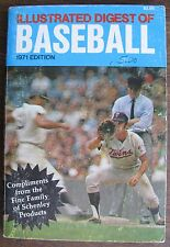 "1974 Illustrated Digest of Baseball"" Compliments of Schenley, many photos, 224p"