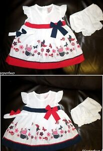 Baby-Girl-Summer-Party-Prom-Wedding-dress-set-knickers-headband-outfit-3-18-M